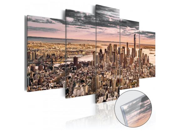 Afbeelding op acrylglas New York City - 100x50 cm