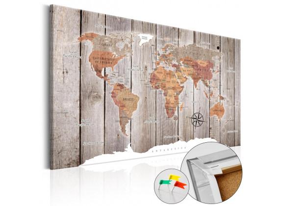 Afbeelding op kurk Wooden Stories - 120x80 cm