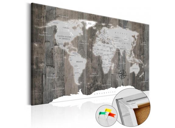 Afbeelding op kurk World of Wood - 120x80 cm