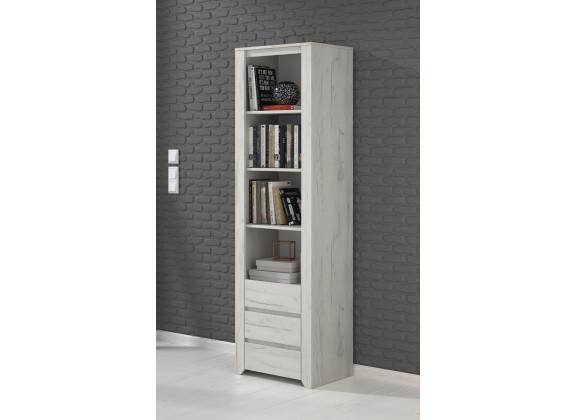 Boekenkast Aversa - Wit eiken - 56 cm