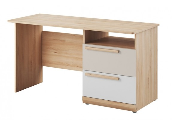 Bureau Hovi - Licht eiken - Wit - 140 cm
