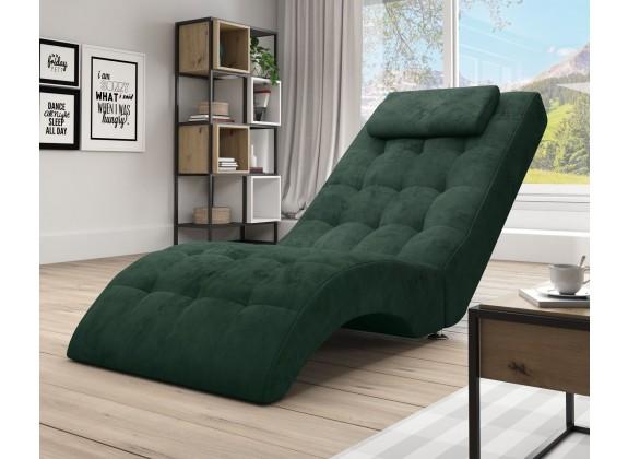 Chaise longue Cherry - Groen - Velvet - ACTIE