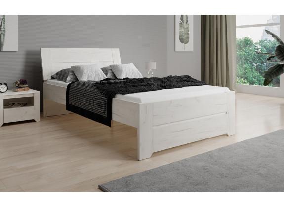 Eenpersoonsbed Aversa - Wit eiken - 120x200 cm