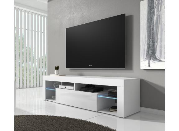 TV-Meubel Fancy - Wit - 140 cm - met led