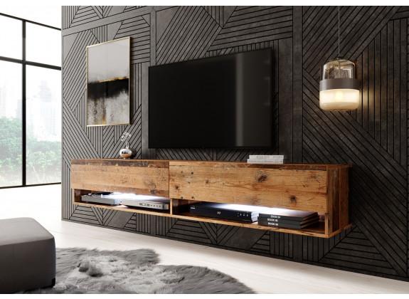 TV-Meubel Asino LED - Old wood - 180 cm