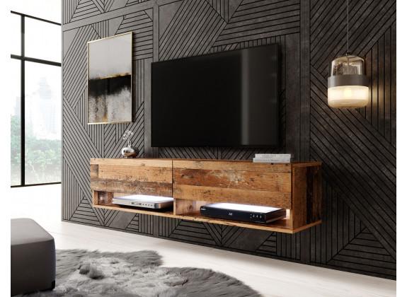 TV-Meubel Asino LED - Old wood - 140 cm
