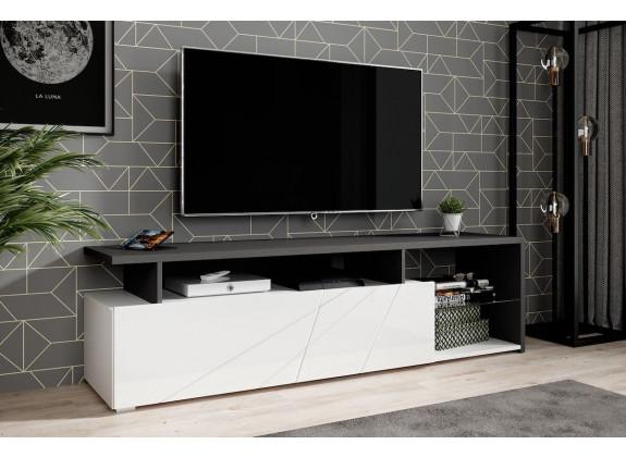 TV-Meubel Colin - Wit - Zwart - 170 cm