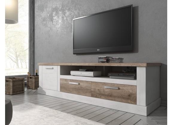 TV-Meubel Danvill - Wit - Eiken - 180 cm