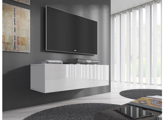 TV-Meubel Flame - Wit - 100 cm - ACTIE