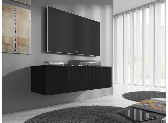 TV-Meubel Flame - Zwart - 100 cm