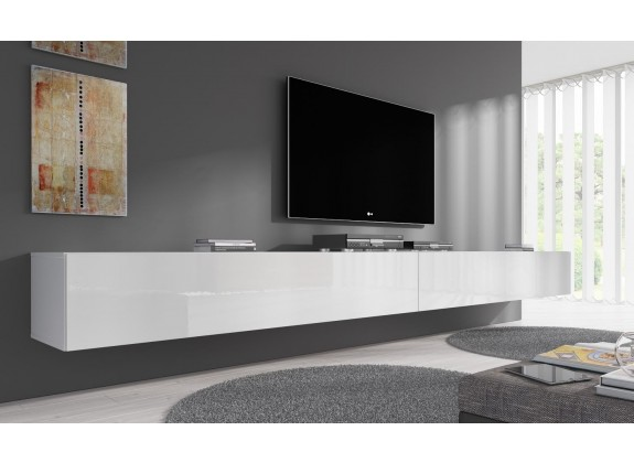 TV-Meubel Flame - Wit - 320 cm