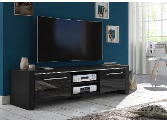 TV-Meubel Hart - Zwart - 160 cm