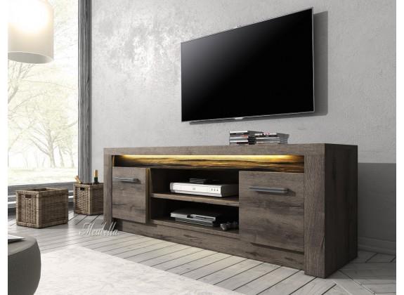 TV-Meubel Invido - Donker eiken - 137 cm - TV-meubels - Kasten en ...