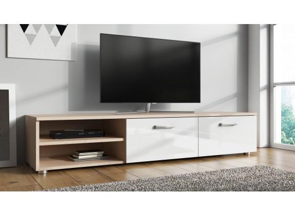 TV-Meubel Memphis - Wit - Licht eiken - 144 cm