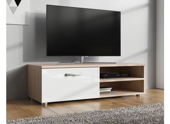 TV-Meubel Memphis Klein - Wit - Licht eiken - 96 cm