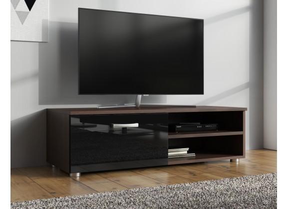 TV-Meubel Memphis Klein - Zwart - Donker eiken - 96 cm