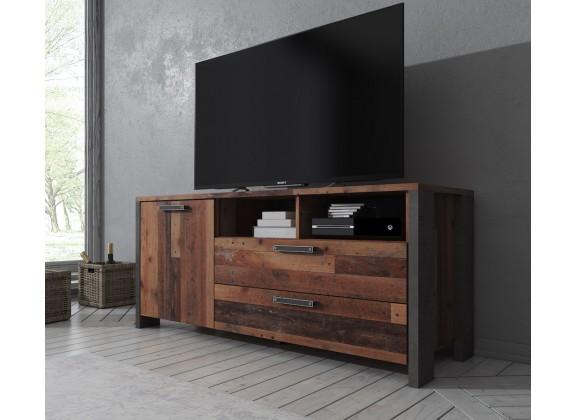 TV-Meubel Cade - Eiken - Grijs - 142 cm - ACTIE