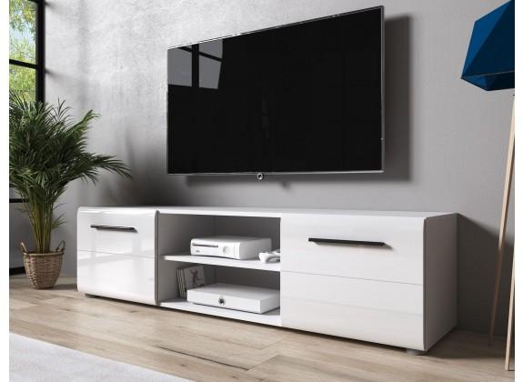 TV-Meubel Raul - Hoogglans wit - 160 cm