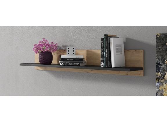 Wandplank Fiona - Eiken - Zwart - 102 cm