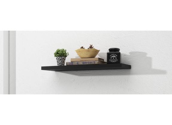 Wandplank Incala - Zwart - 68 cm