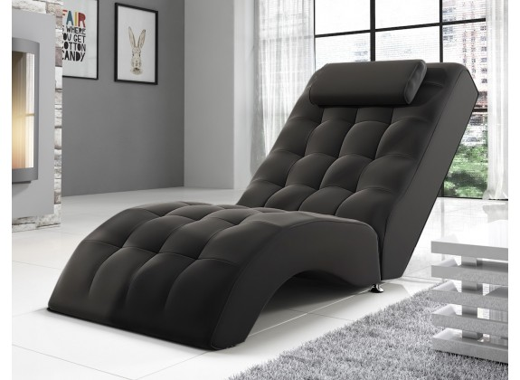 Chaise longue Cherry - Zwart - ACTIE