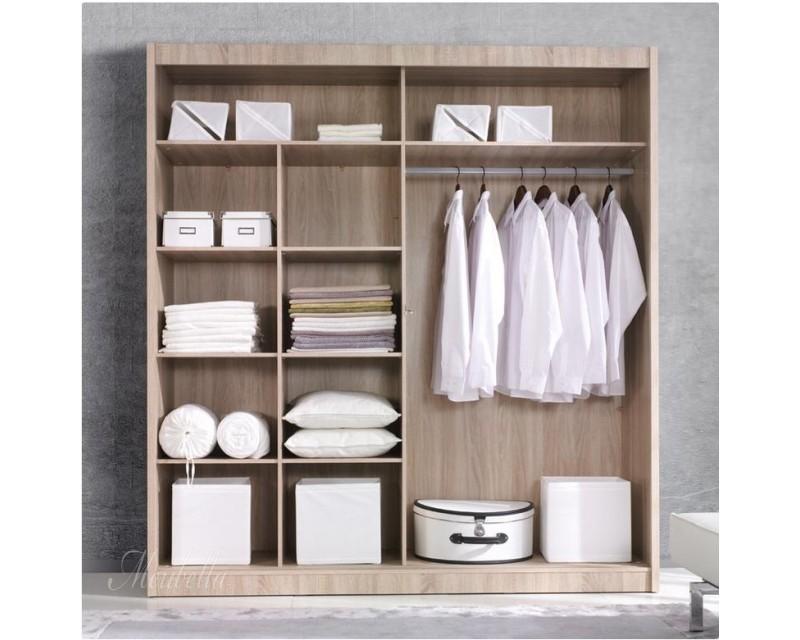 Kledingkast atlanta grijs eiken 180 cm kledingkasten for Kledingkasten outlet