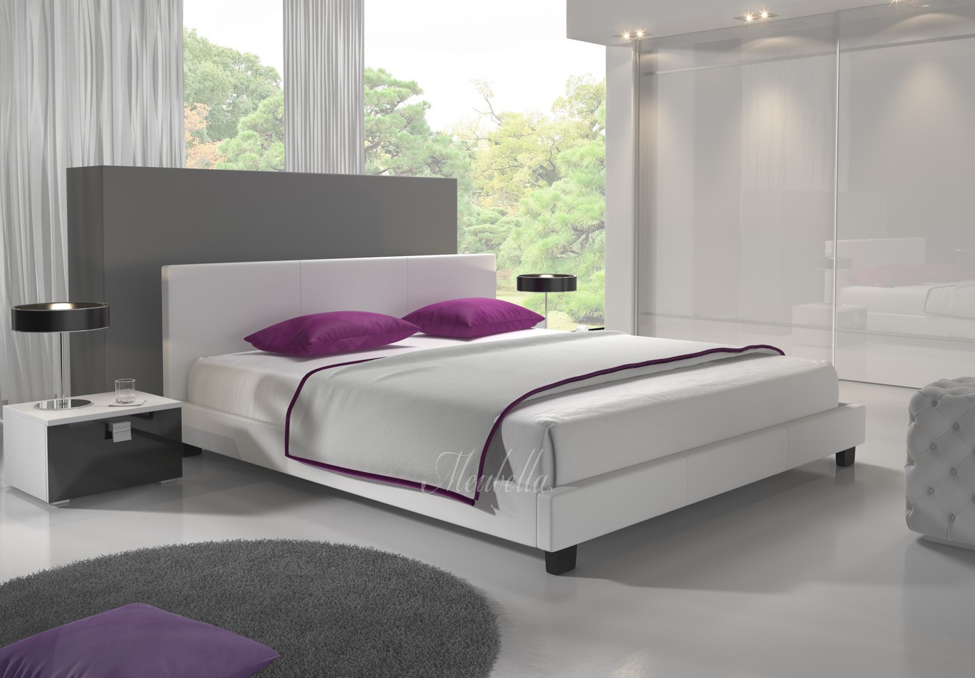 Tweepersoonsbed george wit 140x200 cm actie 140 x for Complete slaapkamers outlet