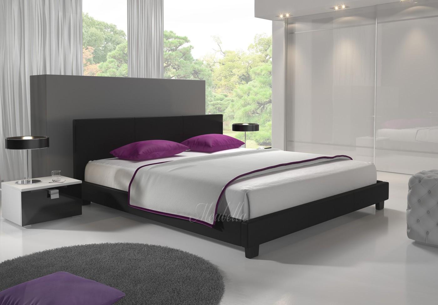 Zwart Bed 140x200.Tweepersoonsbed George Zwart 140x200 Cm Actie Meubella