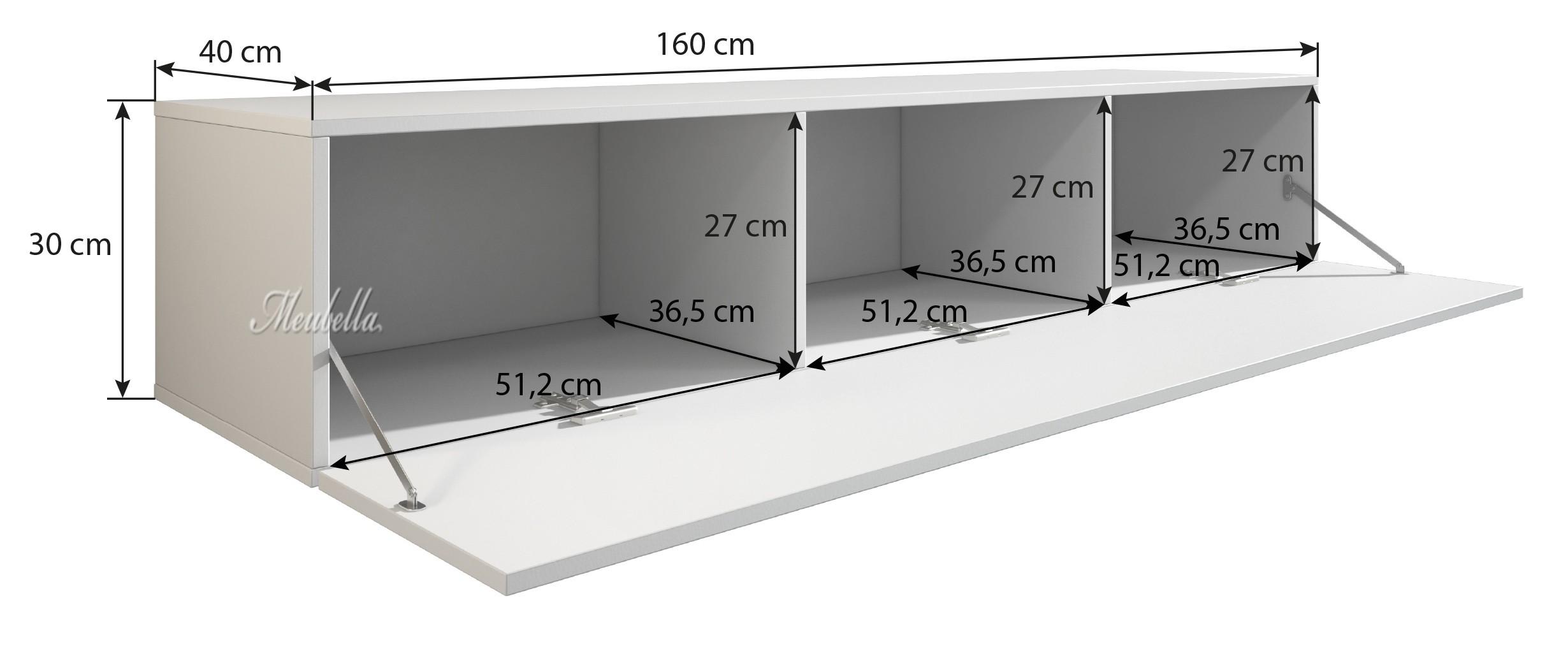 tv meubel flame wit 160 cm meubella. Black Bedroom Furniture Sets. Home Design Ideas