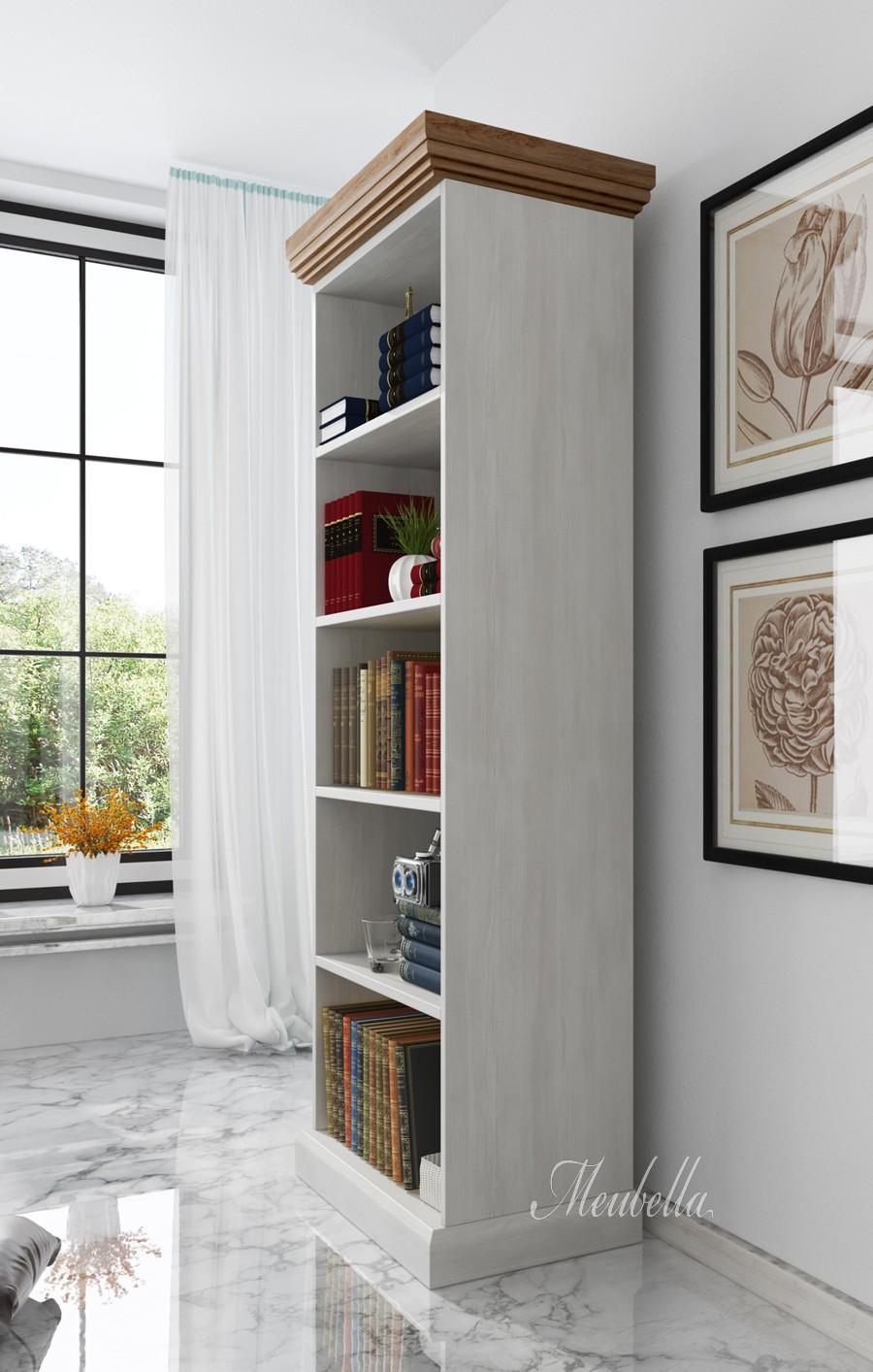boekenkast river wit licht eiken 68 cm actie