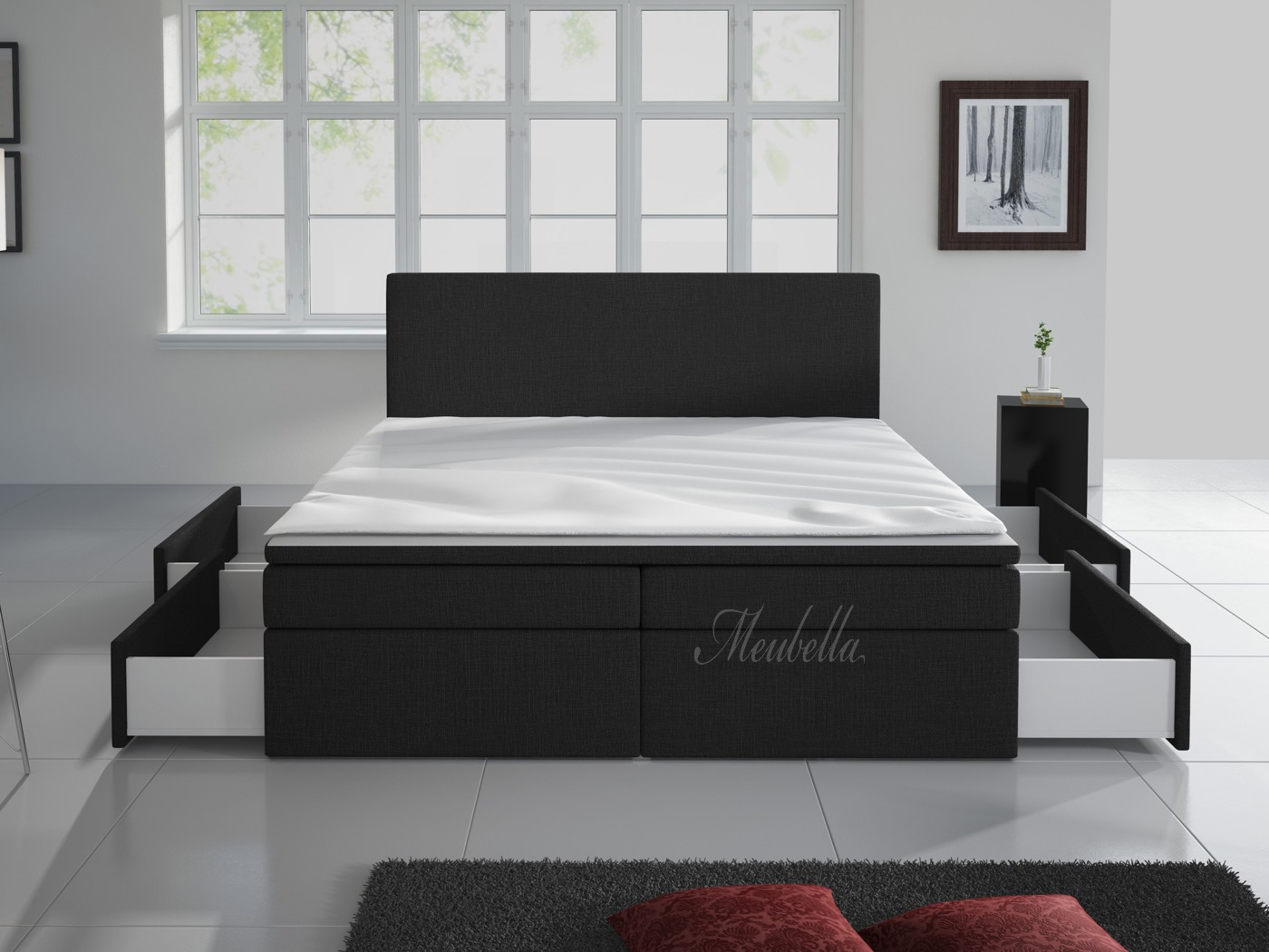 boxspring matratze 140x200 box spring bed 160x200 cm pu leather king size ikea box spring. Black Bedroom Furniture Sets. Home Design Ideas