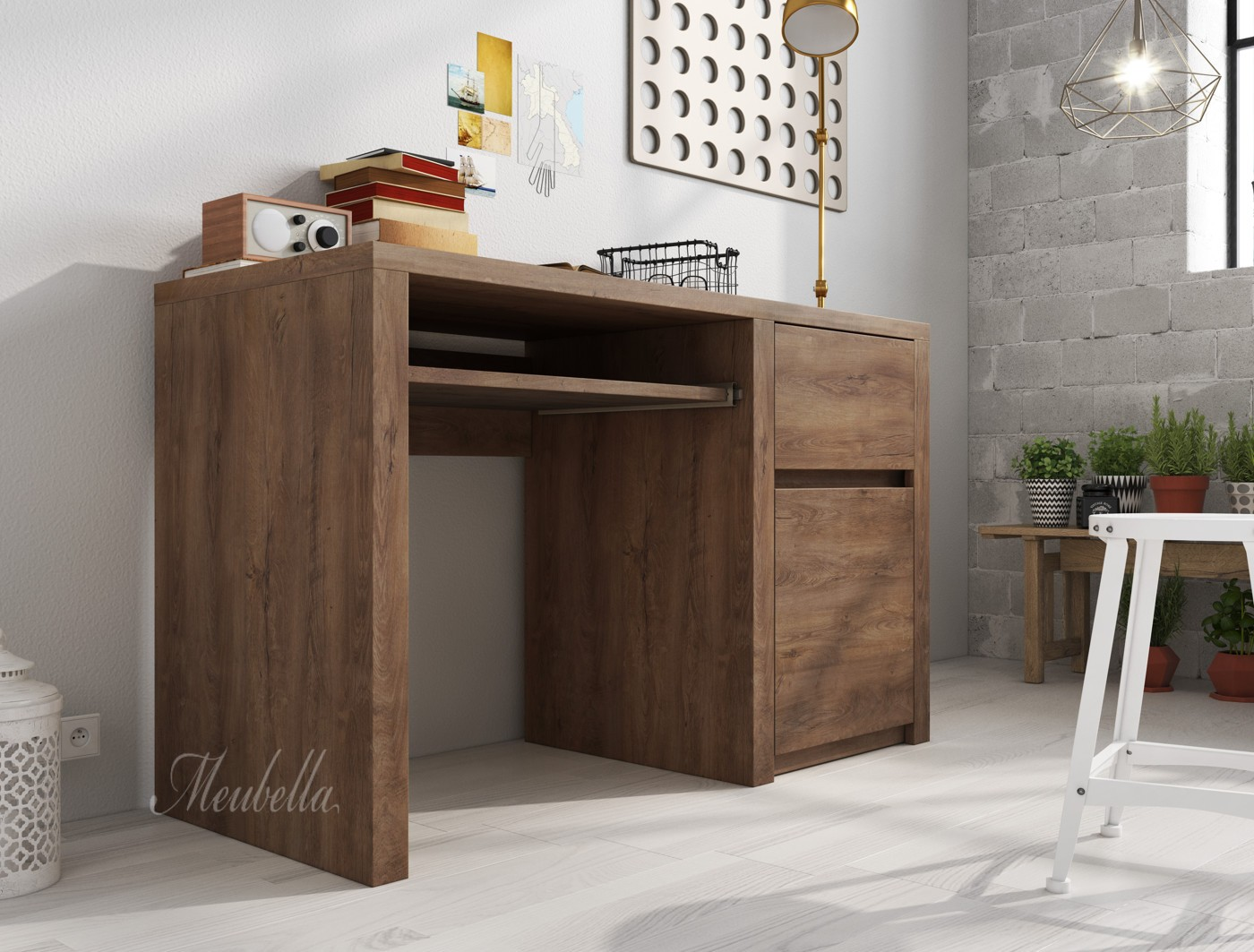 bureau monaco eiken meubella. Black Bedroom Furniture Sets. Home Design Ideas