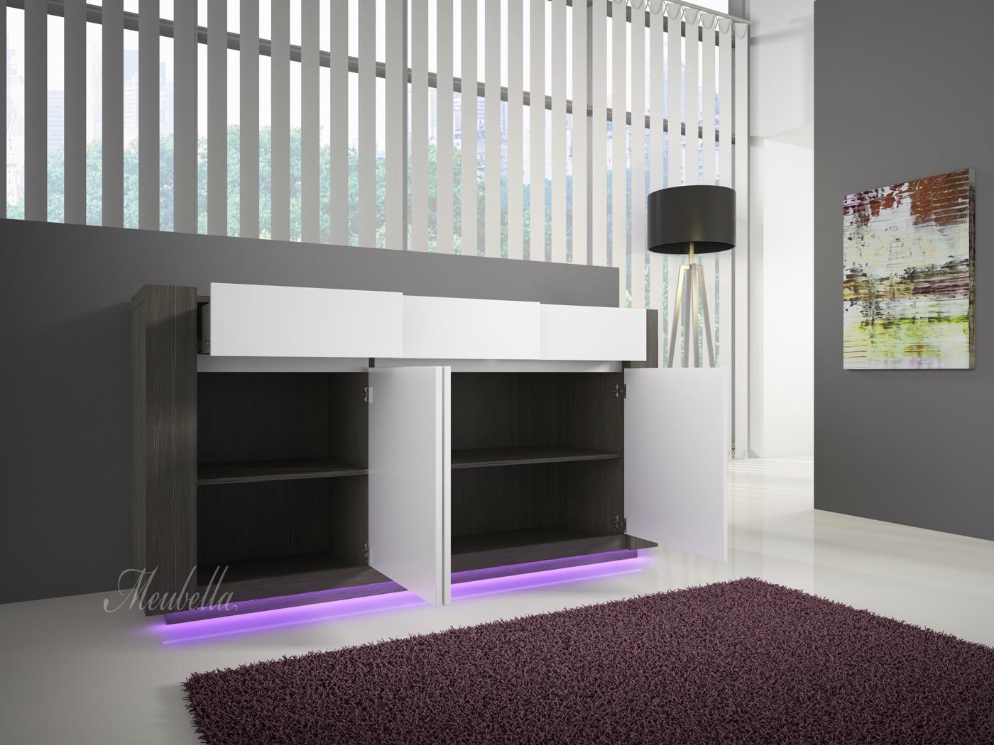 Eetkamertafel Klein : Woonkamer Arulo met LED - Klein Meubella