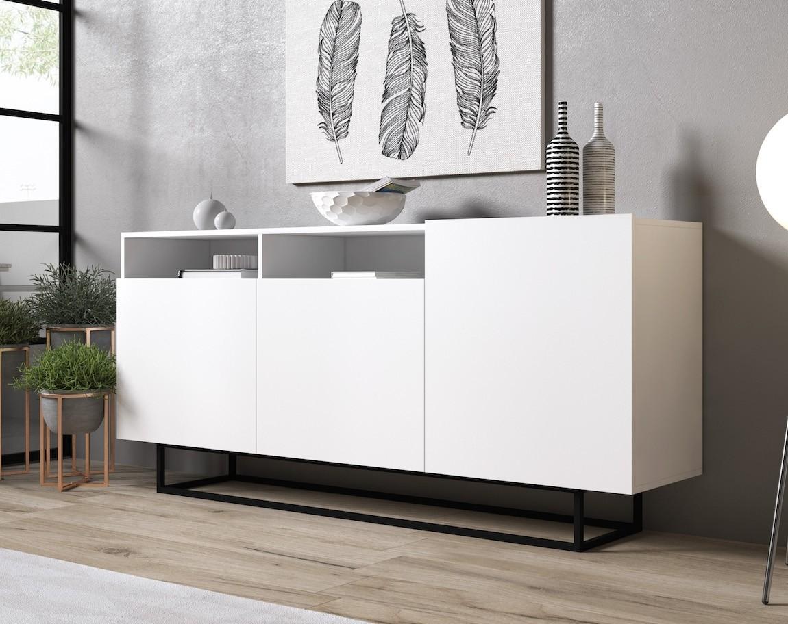 Dressoir Eos - Wit - 180 cm