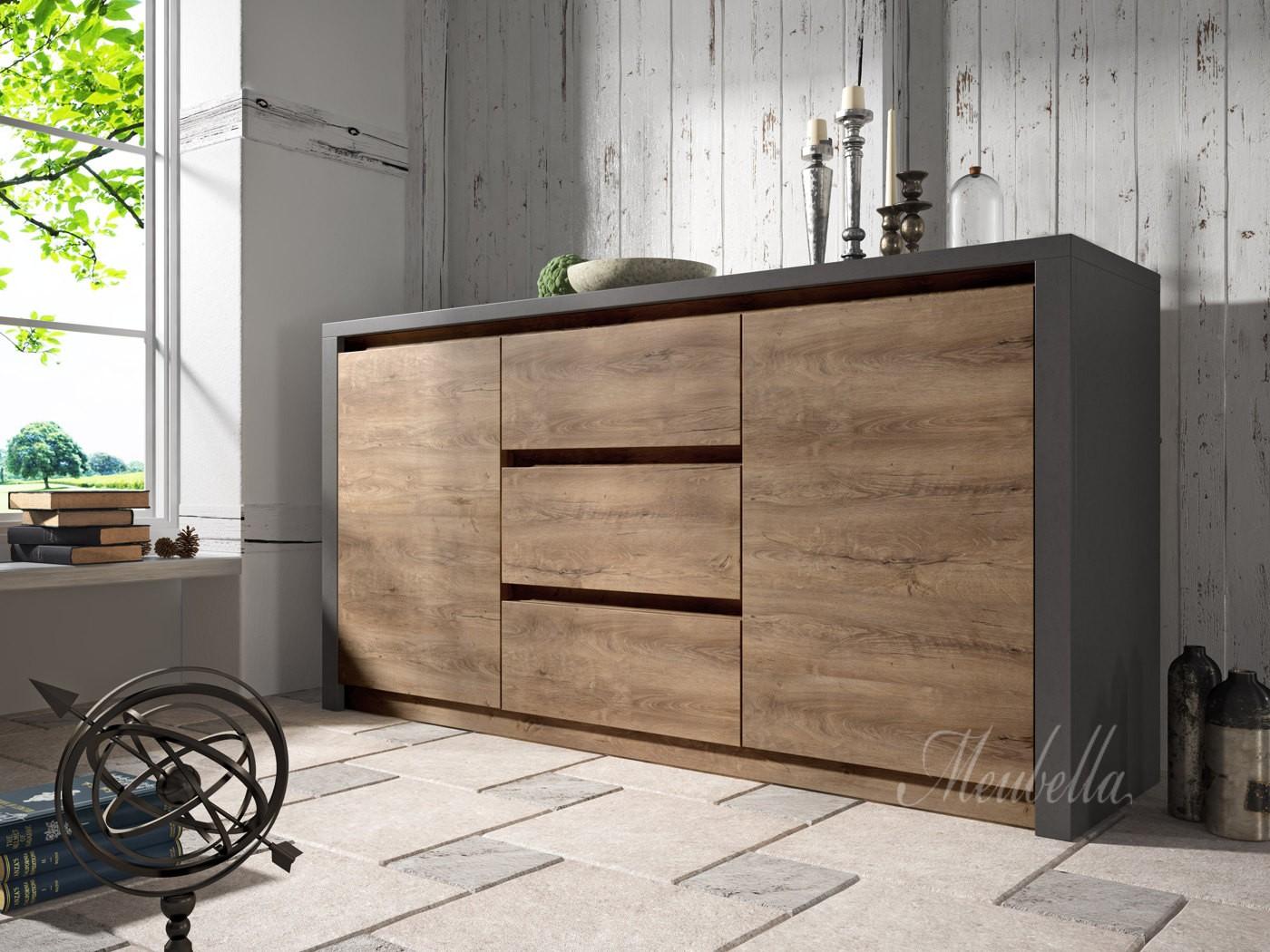 Grijs houten meubels gallery of landelijke tv meubel for Houten meubels woonkamer
