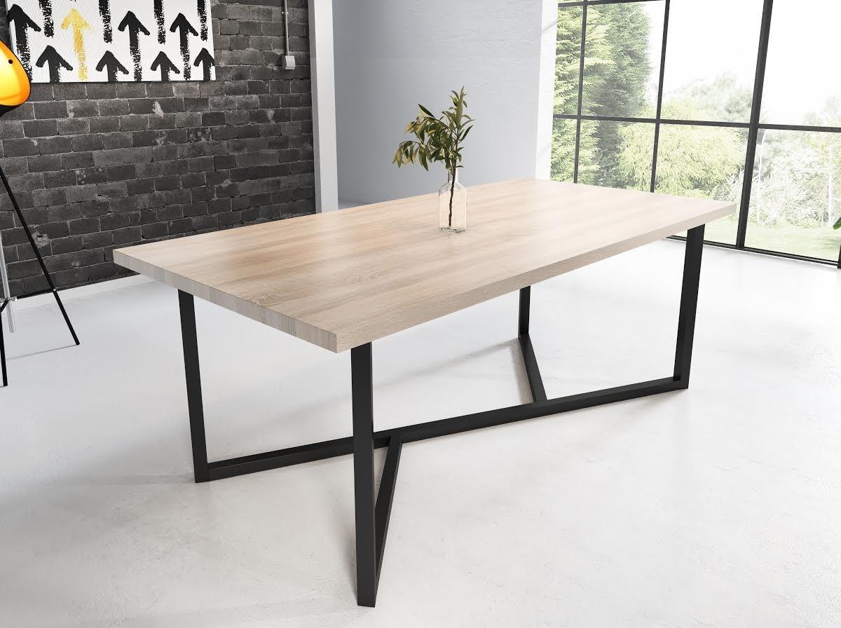 Licht Eiken Side Table.Eetkamertafel Clay 200 Licht Eiken
