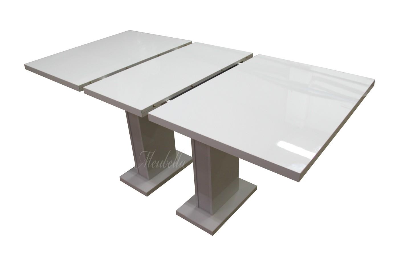Eetkamertafel Glamour 160 - Wit - Uitschuifbaar  Meubella
