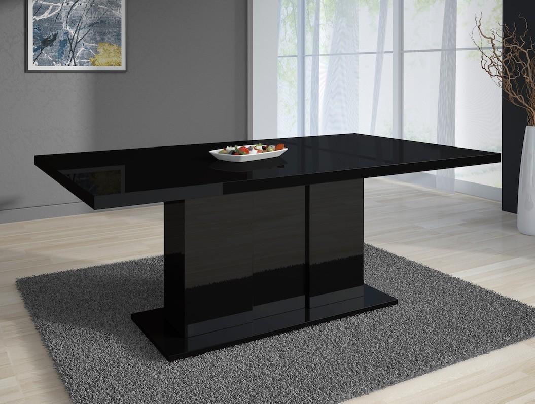 Zwarte Eetkamer Tafel.Eetkamertafel Grant 160 Hoogglans Zwart Meubella