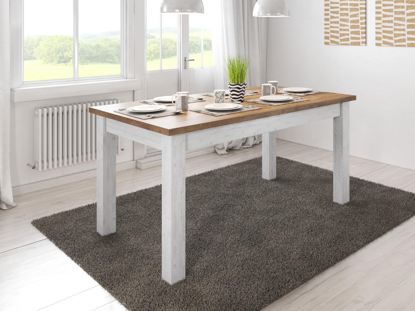 Witte Eettafel 160.Eetkamertafel Parello 160 Wit Eiken Uitschuifbaar Meubella