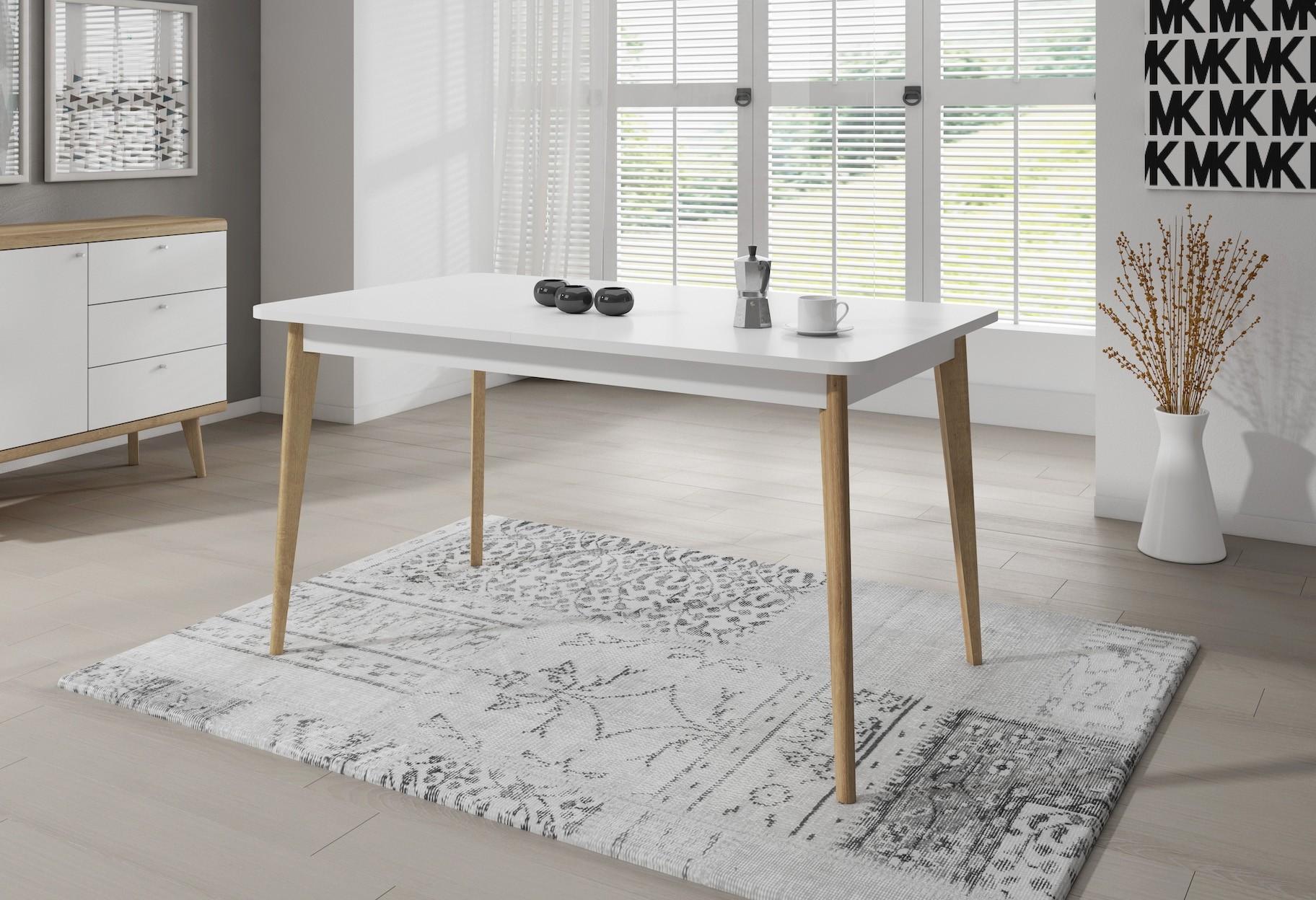 Eetkamertafel Uitschuifbaar Wit : Eettafel model continental uitschuifbaar