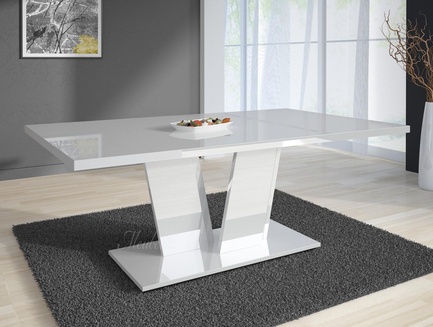 Zwart Wit Hoogglans Eettafel.Design Witte Eettafel
