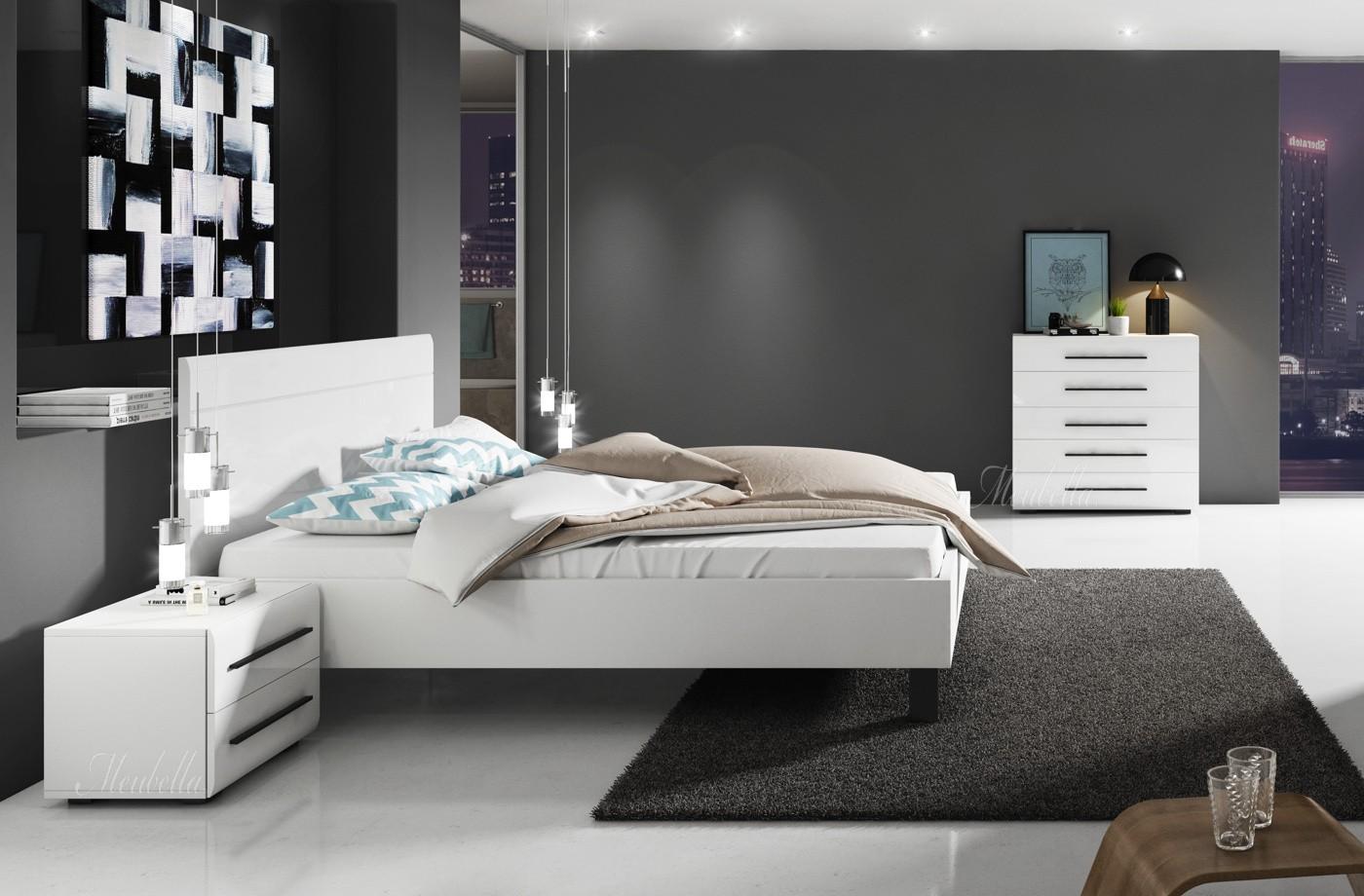 slaapkamer hampton 160 - wit - klein - actie | meubella, Deco ideeën