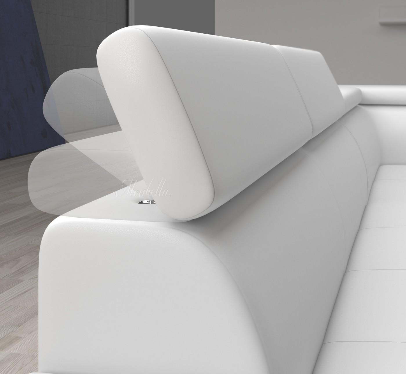 Ikea Hoekbank Wit Leer  Escape eettafelbank leer wit designsales  Hoekbank destiny wit leer