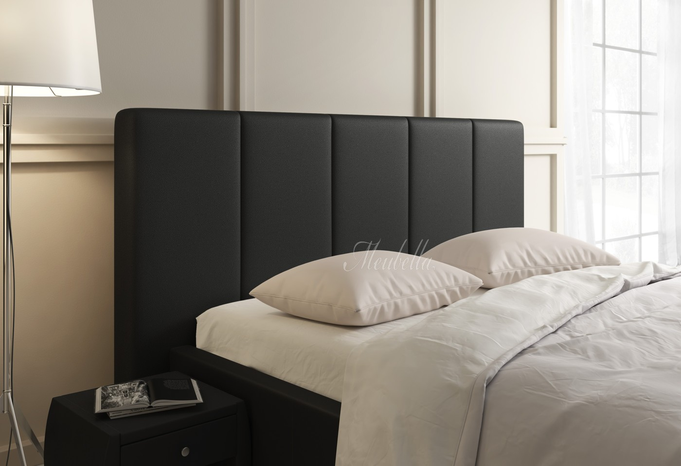 Hoofdbord Vanity - Zwart - 90 cm - Bedden - Slaapkamer | Meubella