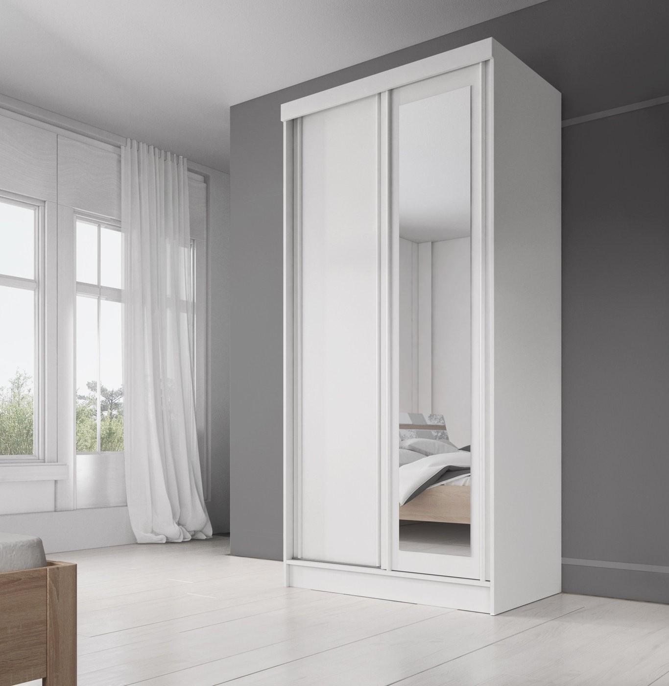 kledingkast allison wit 100 cm meubella. Black Bedroom Furniture Sets. Home Design Ideas