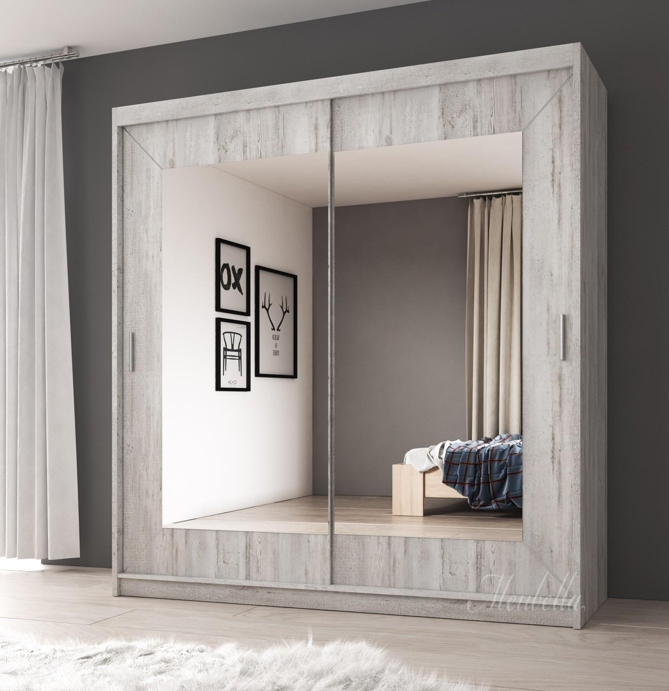 Kledingkast atlanta wit eiken 200 cm kledingkasten for Kledingkasten outlet
