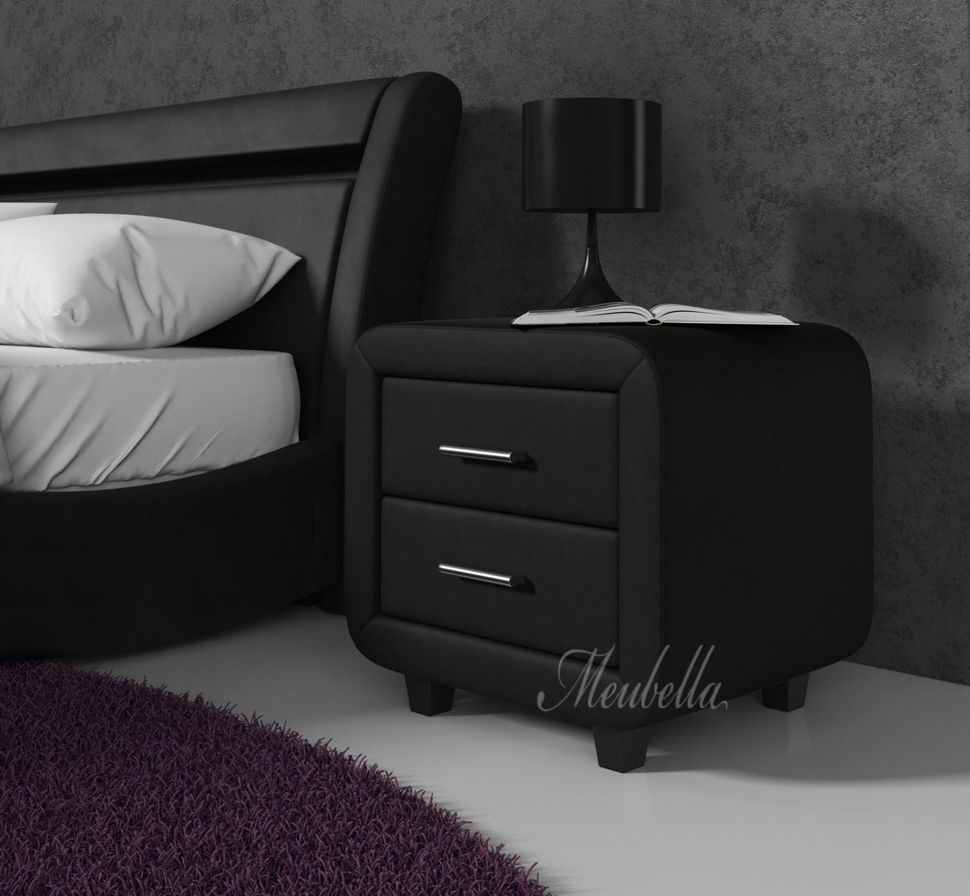 Nachtkastje block zwart set van 2 meubella - Een nachtkastje ...