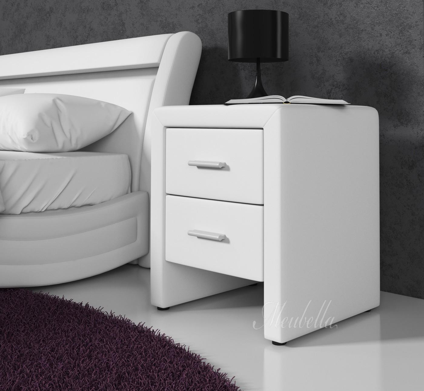 Nachtkastje Tower   Wit   Set van 2   Meubella