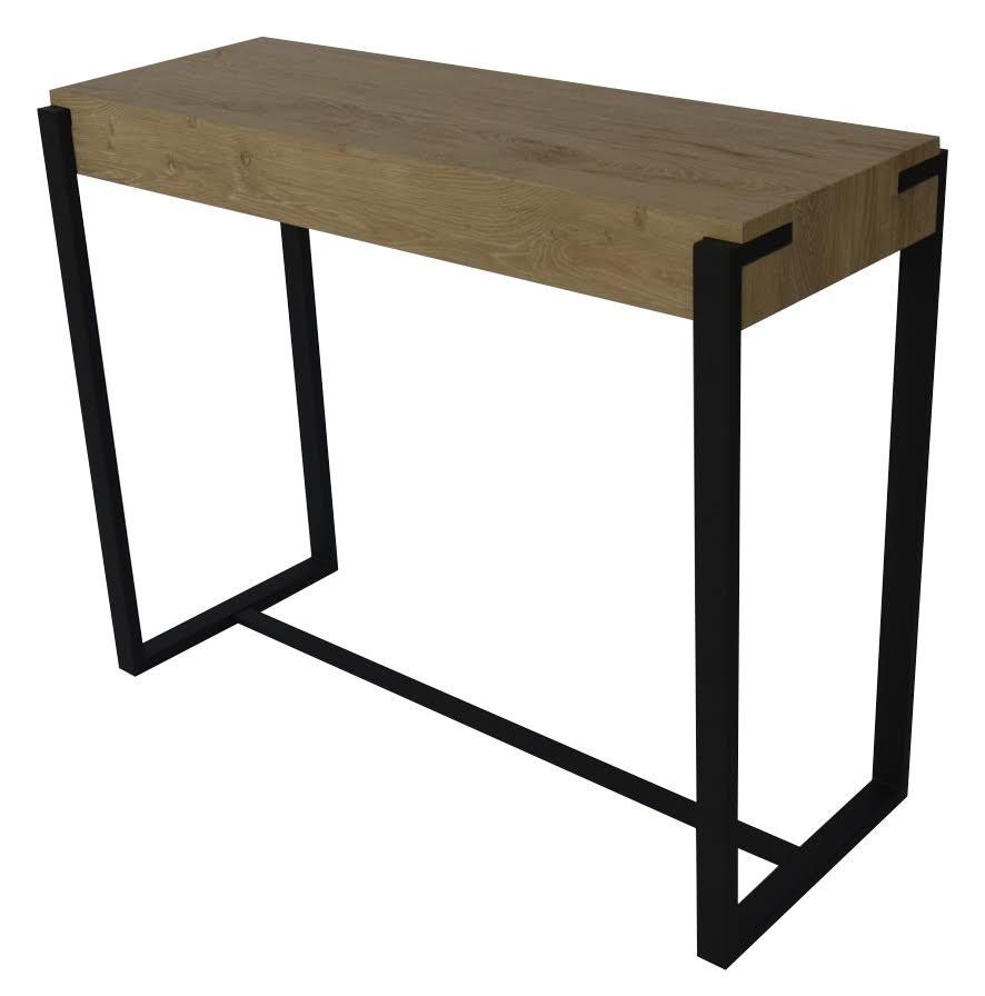 Licht Eiken Side Table.Sidetable Braxton Licht Eiken Zwart