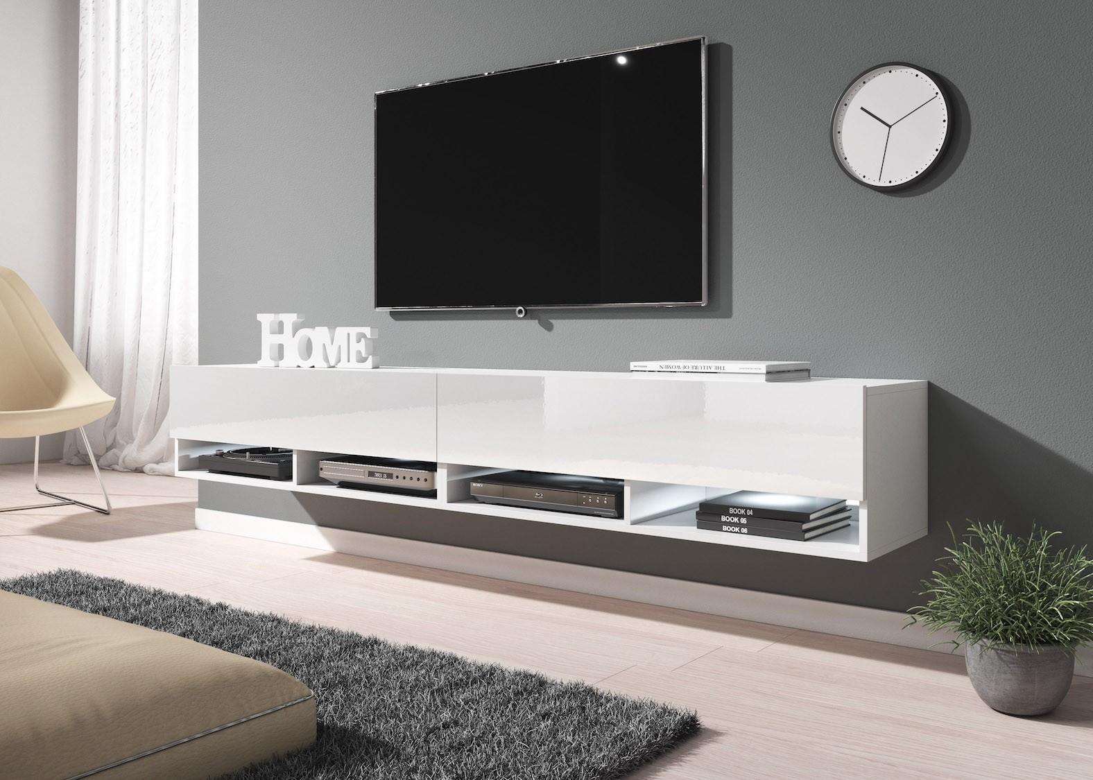 Woonkamer Tv Kast : Tv meubel asino wit cm tv meubels kasten en